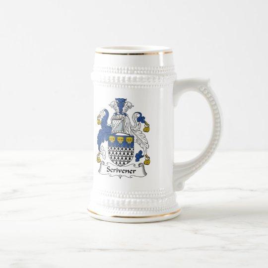 Scrivener Family Crest Beer Stein