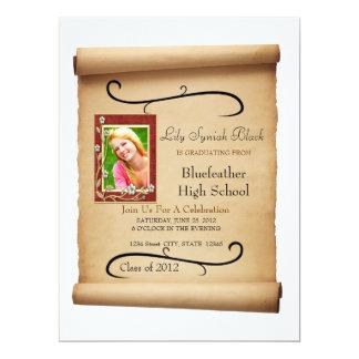 """Scroll 6.5"""" X 8.75"""" Invitation Card"""