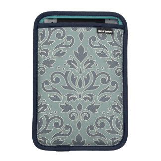 Scroll Damask Lg Pattern (outline) Cream Blue Teal iPad Mini Sleeve