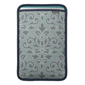 Scroll Damask Lg Pattern (outline) Cream Blue Teal MacBook Sleeve