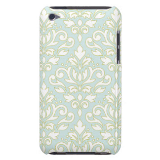 Scroll Damask Lg Ptn (outline) Wt Gld Lt Teal Barely There iPod Cover