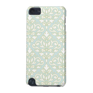 Scroll Damask Lg Ptn (outline) Wt Gld Lt Teal iPod Touch (5th Generation) Covers