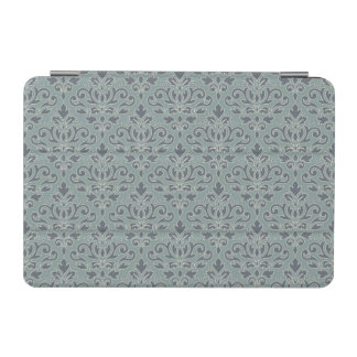 Scroll Damask Pattern (outline) Cream Blue Teal iPad Mini Cover