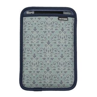 Scroll Damask Pattern (outline) Cream Blue Teal iPad Mini Sleeve