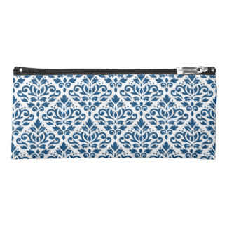 Scroll Damask Ptn Dk Blue on White Pencil Case