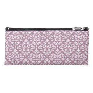 Scroll Damask Ptn Pink on Mauve Pencil Case
