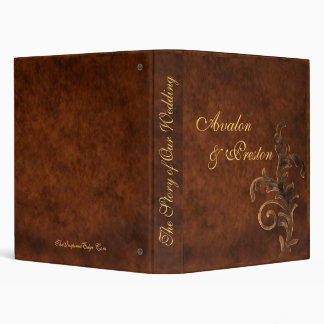 Scroll Leaf Faux Leather Story of Our Wedding Vinyl Binders