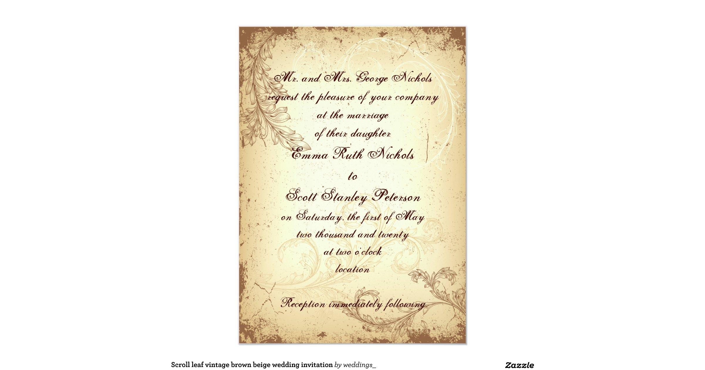 beige and brown wedding - photo #27