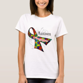 Scroll Ribbon - Autism Awareness T-Shirt