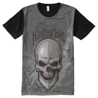 Scroll Skull All-Over-Print T-Shirt