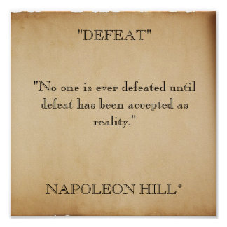 "scroll-stock2, ""DEFEAT""""No one is ever defeated... Poster"