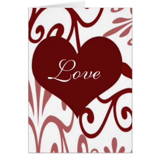 Scroll Valentine-English Card