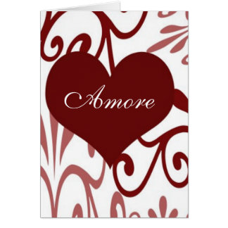 Scroll Valentine-Italian Card
