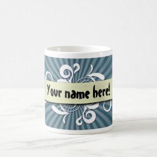 Scroll with blue background coffee mug