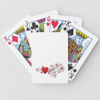 Scrolled Heart Bicycle Playing Cards