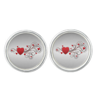 Scrolled Heart Cuff Links