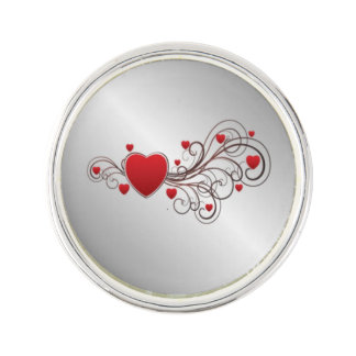 Scrolled Heart Lapel Pin