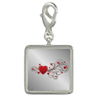 Scrolled Heart Photo Charms