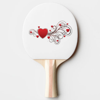 Scrolled Heart Ping Pong Paddle
