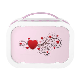 Scrolled Hearts kash003 Lunch Box