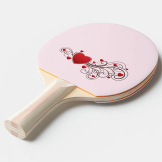 Scrolled Hearts kash003 Ping Pong Paddle