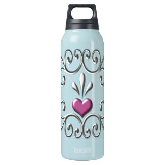 Scrolled Hearts SIGG Thermo Water Bottle © AH2009