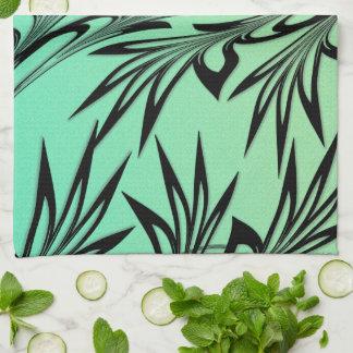 Scrolled Leaf Ombre Kitchen Towel