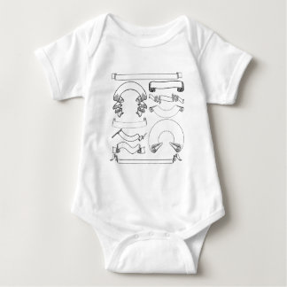 Scrolls Ribbons and Banners Set Baby Bodysuit