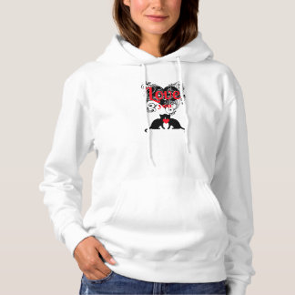 Scrollwork Hearts With Kitties...Love You Hoodie