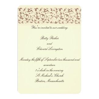 Scrollwork Wedding Card