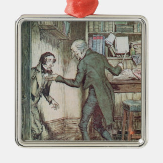 Scrooge and Bob Cratchit Metal Ornament