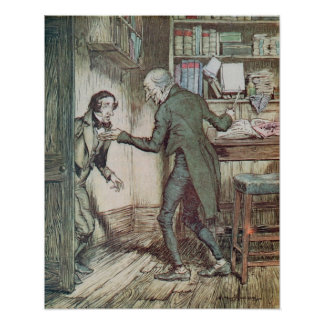 Scrooge and Bob Cratchit Poster