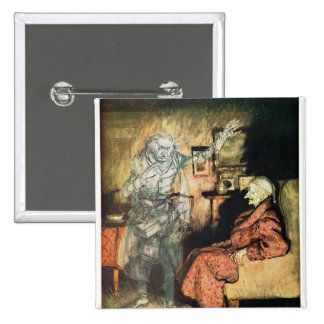 Scrooge and The Ghost of Marley 2 Inch Square Button