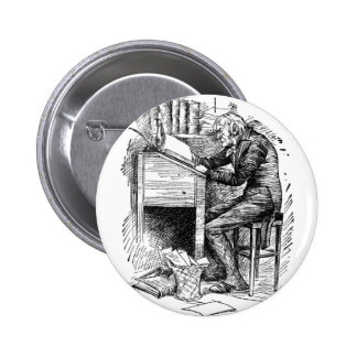 Scrooge at His Desk 2 Inch Round Button
