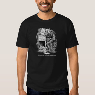 Scrooge at His Desk (with text) T-shirt