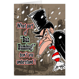 Scrooge Christmas card