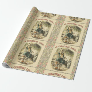 Scrooge Ghost of Christmas Present Victorian Wrapping Paper