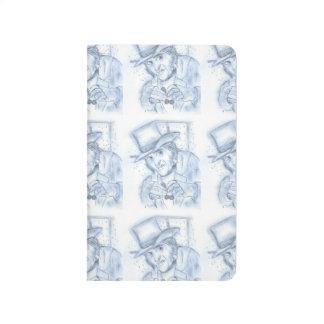 Scrooge in blue journals