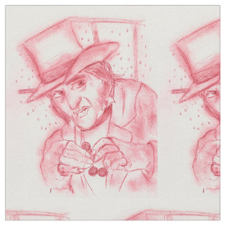 Scrooge in Red Fabric