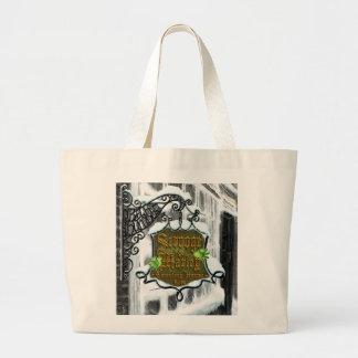 Scrooge&MarleySignScene Large Tote Bag