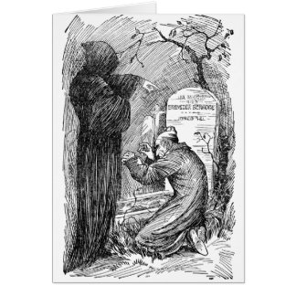 Scrooge's Grave Greeting Card