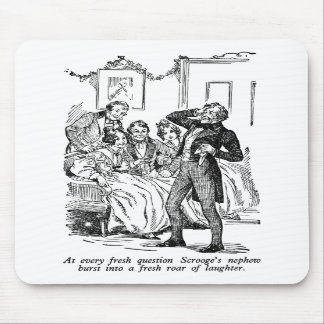 Scrooge's Nephew (with text) Mousepad