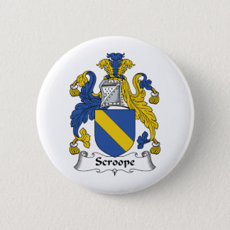 Scroope Family Crest 2 Inch Round Button