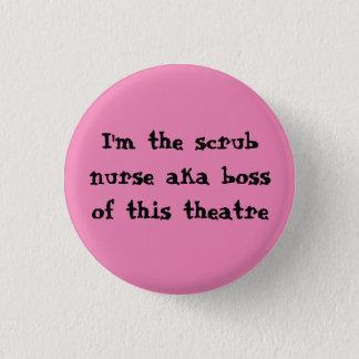 Scrub nurse badge 1 inch round button