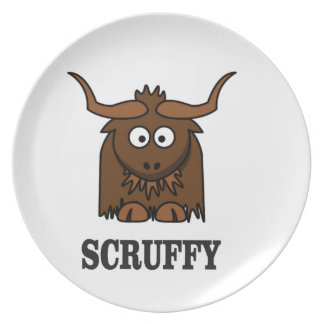 scruffy yak plate