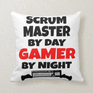 Scrum Master by Day Gamer by Night Throw Pillow