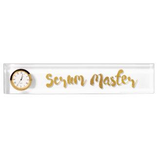 Scrum Master Nameplate