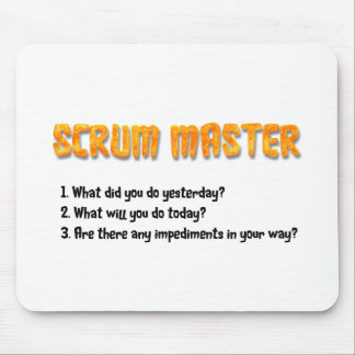 Scrum Master Sprint Questions Mouse Pad