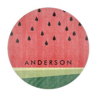 Scrumptious Watermelon   Custom Name Cutting Board
