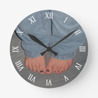 Scrunched Toes Wall Clock